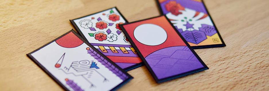 Closeup of 4 cards