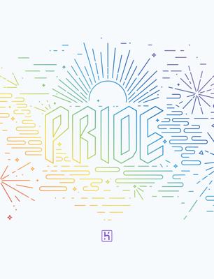 Heroku Pride Fireworks Light wallpaper